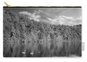 Late Afternoon At The Lake - Bw Carry-all Pouch