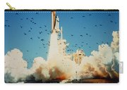 Launch Of Space Shuttle Challenger 51-l Carry-all Pouch