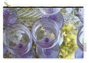 Lavender Wine Glasses Carry-all Pouch