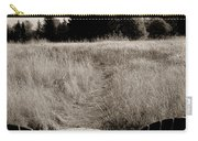 Lawn Chair View Of Field Carry-all Pouch by Darcy Michaelchuk