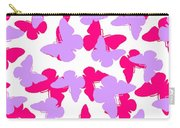 Layered Butterflies  Carry-all Pouch by Louisa Knight