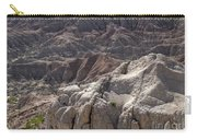 Layers Of Rock In The Badlands Carry-all Pouch