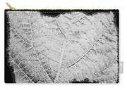 Leaf Design- Black And White Carry-all Pouch