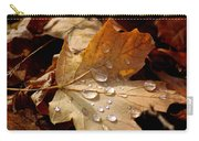 Leaf Doplets Carry-all Pouch by LeeAnn McLaneGoetz McLaneGoetzStudioLLCcom