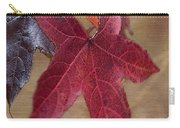Leaf In Red Carry-all Pouch