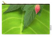 Leaf On Leaf With Red Bud Carry-all Pouch