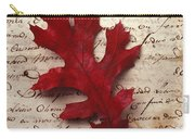 Leaf On Letter Carry-all Pouch