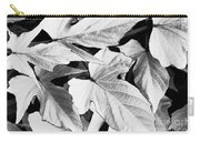 Leaf Study In Black And White Carry-all Pouch