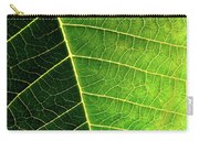 Leaf Texture Carry-all Pouch by Carlos Caetano