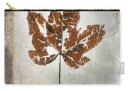 Leaf  With Textured Effect Carry-all Pouch