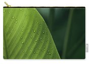 Leaf With Water Drops, Barro Colorado Carry-all Pouch