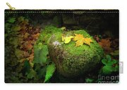 Leafs On Rock Carry-all Pouch