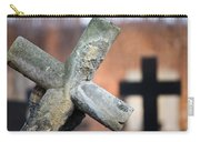 Leaning Cross At Cemetery Carry-all Pouch