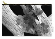 Leaves And Driftwood Bw Carry-all Pouch