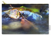 Leaves On Rock In Stream Carry-all Pouch by Sharon Talson