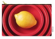 Lemon In Red Bowls Carry-all Pouch
