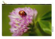 Lensbaby Ladybug On Pink Clover Carry-all Pouch