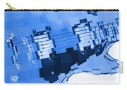 Abstract Guitar In Blue 2 Carry-all Pouch