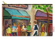 Lester's Deli Montreal Cafe Summer Scene Carry-all Pouch