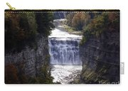 Letchworth State Park Middle Falls With Watercolor Effect Carry-all Pouch