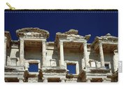 Library Of Celsus In Ephesus Carry-all Pouch by Sally Weigand
