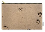Footprints Mans Best Friend Carry-all Pouch