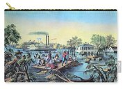 Life On The Mississippi, 1868 Carry-all Pouch by Photo Researchers