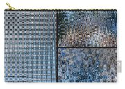 Light Blue And Brown Textural Abstract Carry-all Pouch