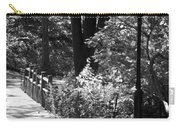 Lighted Bridge In Black And White Carry-all Pouch