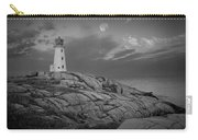 Lighthouse In The Moonlight At Peggy's Cove Nova Scotia Canada Carry-all Pouch