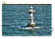 Lighthouse On The Blue Sea Carry-all Pouch