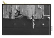 Lighthouse Shutter Black And White Carry-all Pouch