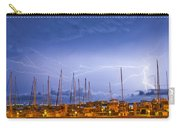 Lightning At The Marina Carry-all Pouch