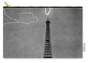 Lightning Strikes Eiffel Tower, 1902 Carry-all Pouch