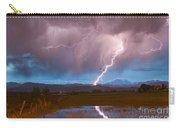 Lightning Striking Longs Peak Foothills 2 Carry-all Pouch