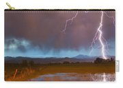 Lightning Striking Longs Peak Foothills 5 Carry-all Pouch