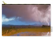Lightning Striking Longs Peak Foothills 7 Carry-all Pouch