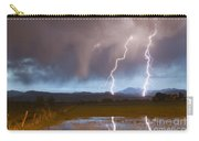 Lightning Striking Longs Peak Foothills Carry-all Pouch