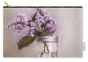 Lilac And Cherries Carry-all Pouch by Priska Wettstein
