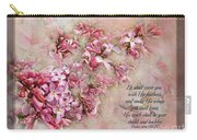 Lilacs With Verse Carry-all Pouch