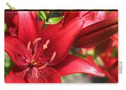 Lilies In Red Carry-all Pouch