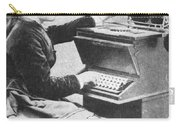 Lillian Sholes, The First Typist, 1872 Carry-all Pouch