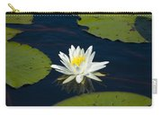 Lily Pad And Flower Carry-all Pouch