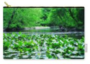 Lily Pads Along Unami Creek Carry-all Pouch