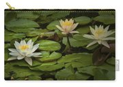 Lily Pads And Blossoms. No204 Carry-all Pouch