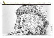 Lion-art-black-white Carry-all Pouch
