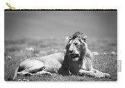 Lion King In Black And White Carry-all Pouch