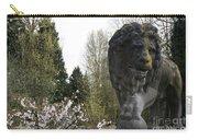 Lion Sculpture Carry-all Pouch