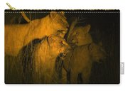 Lions At Night Carry-all Pouch