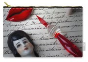 Lips Pen And Old Letter Carry-all Pouch